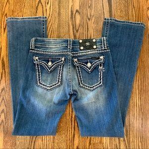 Miss Me Broken-in Bootcut Jeans